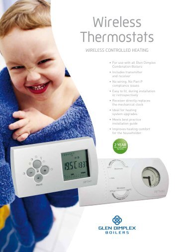 Wireless Thermostats - Glen Dimplex Boilers