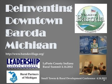 Reinventing Downtown Baroda Michigan - Village of Baroda