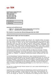 Weiterbildung Coaching - Systemisches Institut Karlsruhe