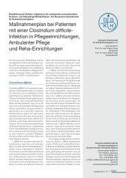 Maßnahmenplan bei Patienten mit einer Clostridium difficile ...
