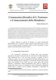 L'umanesimo filosofico di S. Tommaso e il ... - E-Aquinas
