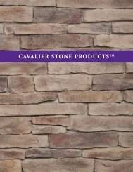 Download the Cavalier Stone Products™ Catalog PDF