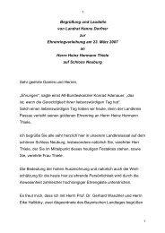 Rede des Landrats Hanns Dorfner - Landkreis Passau