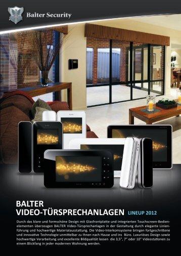 BALTER VIDEO-TÜRSPRECHANLAGEN LINEUP 2012 - bsalarm.at