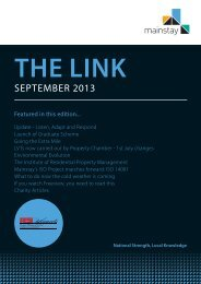The Link - September 2013 - Mainstay Group