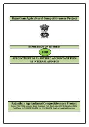Expression of Interest for Appending of Chartered ... - Rajasthan Krishi