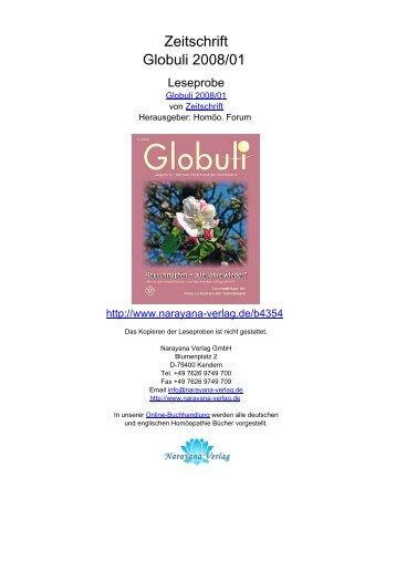 Zeitschrift Globuli 2008/01