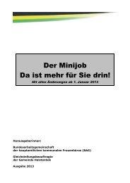 Der Minijob - Gemeinde Halstenbek