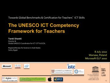 The UNESCO ICT Competency Framework for Teachers
