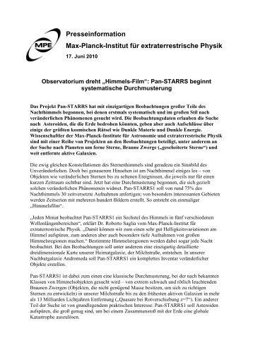 Druckversion im pdf-Format - Max-Planck-Institut für ...