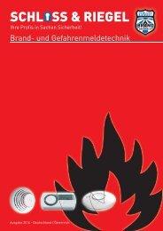 Brand- und Gefahrenmeldetechnik - Schloß & Riegel