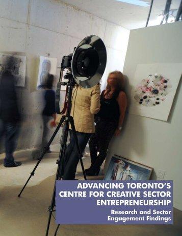 Centre for Creative Sector Entrepreneurship Report - Artscape