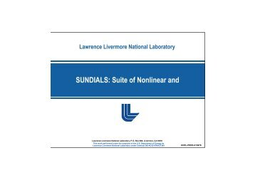 SUNDIALS: Suite of Nonlinear and