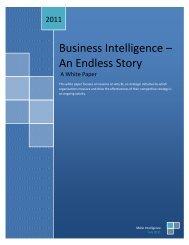 Business Intelligence – An Endless Story - MAIA Intelligence