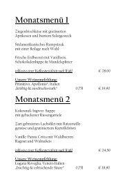Monatsmenü 1 Monatsmenü 2 - Guido's Restaurant
