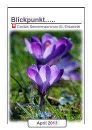 Ausgabe April 2013 - Seniorenzentrum Oberstaufen