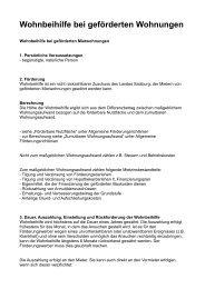 Wohnbeihilfe bei geförderten Wohnungen - Die Salzburg