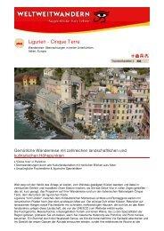Ligurien - Cinque Terre - Weltweitwandern