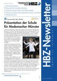 Präsentation der Schule für Modemacher Münster - Lehrgänge