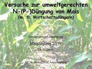 Versuche zur umweltgerechten N-(P-)Düngung von Mais - LTZ ...