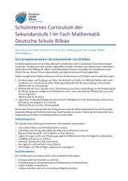 Mathematik_Sek1 - Deutsche Schule Bilbao