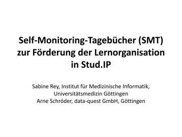 Self-Monitoring-Tagebücher (SMT) zur Förderung der ... - Stud.IP