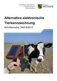 Alternative elektronische Tierkennzeichnung - Publikationen