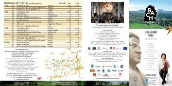 Télécharger le programme 2013 - Bach en Combrailles