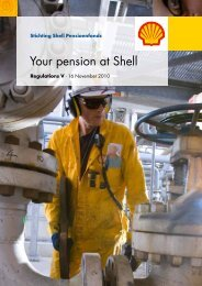 Your pension at Shell