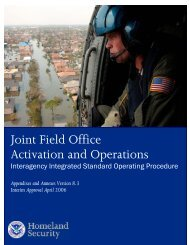 Joint Field Office Activation and Operations - Federal Emergency ...