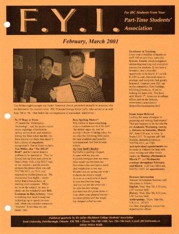 Spring 2001 - TPSA