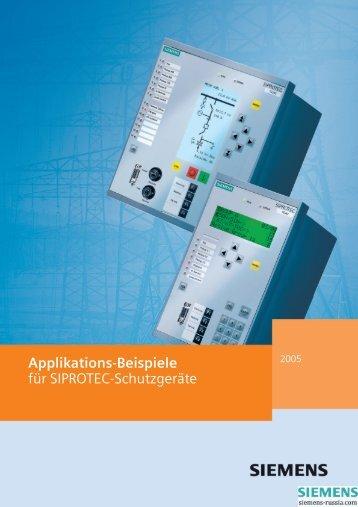 Applikations-Beispiele für SIPROTEC-Schutzgeräte