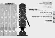 S 2000 Plus - haacon Gruppe