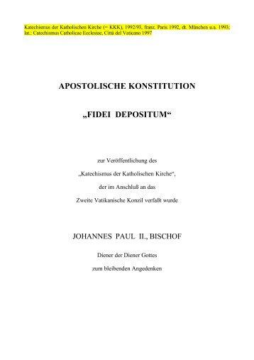 APOSTOLISCHE KONSTITUTION