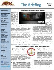 The Briefing August 2011 - National White Collar Crime Center