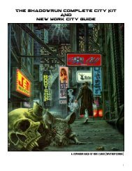 The Shadowrun Complete City Kit And New York ... - WordPress.com