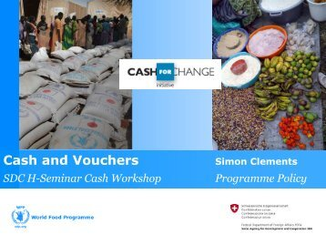 WFP Cash for Change Initiative