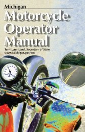 Michigan Motorcycle Operator Manual - Lakeshoredriving.net