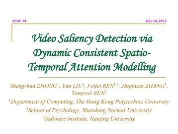 Video Saliency Detection