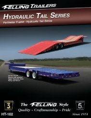 Hyd. Tail Perimeter Frame (HT-102) - Felling Trailers