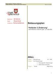 """Bebauungsplan """"Hofäcker 3.Änderung"""" - Rosenfeld"""