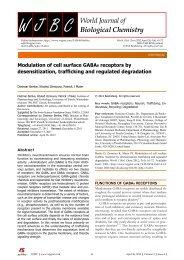 Modulation of cell surface GABA receptors by desensitization ...