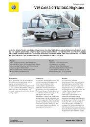TCS Fahrzeugtest VW Golf GTI PDF