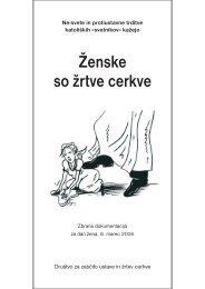 Tekst Ženske so žrtve cerkve je na voljo tudi v pdf obliki kot brošura.