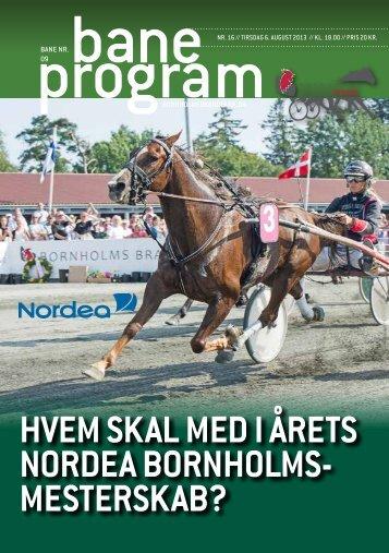 Baneprogram for 6. august 2013 - Bornholms Brand Park