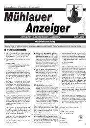 Mühlauer Anzeiger vom 10.09.13 - Mühlau in Sachsen