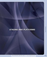 STAGING AND PLATFORMS - Wenger Corporation