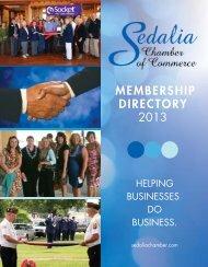 MEMBERSHIP DIRECTORY 2013 - Sedalia Chamber of Commerce