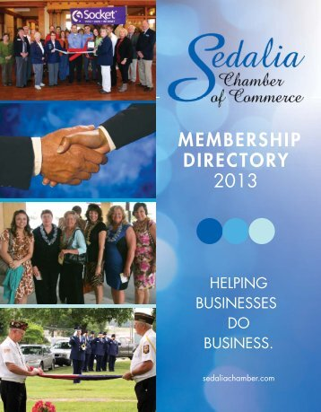 MEMBERSHIP DIRECTORY 2013 - Sedalia Chamber of Commerce