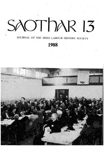 JOURNAL OF THE IRISH LABOUR HISTORY SOCIETY